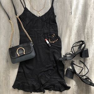 Black Ruffled H&M Slip Dress